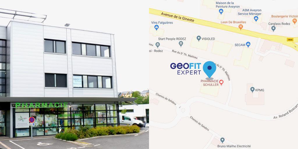 GEOFIT EXPERT rodez déménage : retrouvez l'équipe dans ses nouveaux locaux au 103 rue Dr. Théodor Mathieu à La Gineste.
