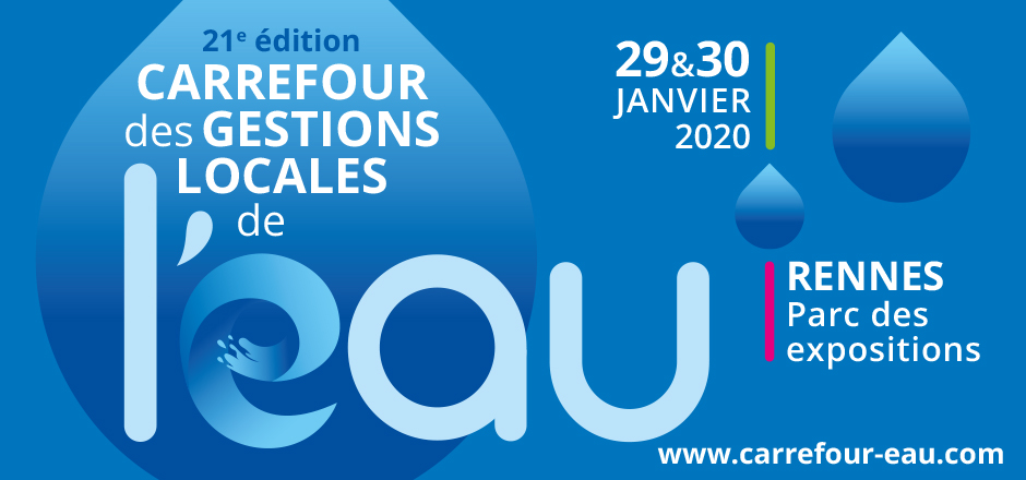 Geofit Expert présent au Carrefour des gestions locale de l'eau, événement annuel de la gestion de l'eau